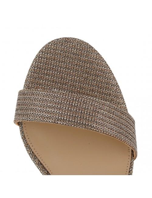 Γυναικείο παπούτσι EXE M4700299476S δέρμα ΡΟΖ ΧΡΥΣΟΣ GLITTER